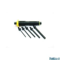 Průbojníky CrVa 6ks 3,4,5,6,8mm