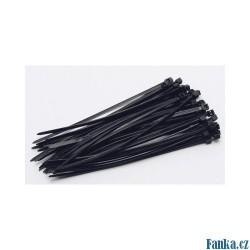 Stahovací pásky 200x3,6mm, 50ks černá