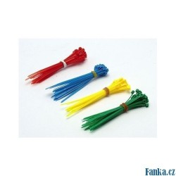 Vázací pásky 100x2,5mm, 100ks barevné