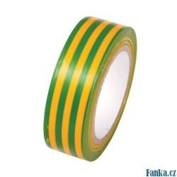 PVC páska žlutá s zel,pruhy 19x0,13x10M