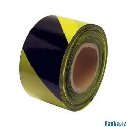 Varovací páska 200M černá-žlutá