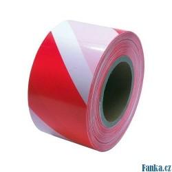 Varovací páska250M,červ-bílá bez potisku