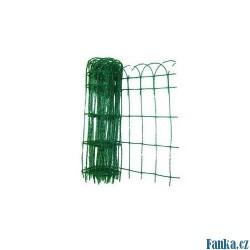Okrasné pletivo 0,65x25M,2mm,15x9cm PVC
