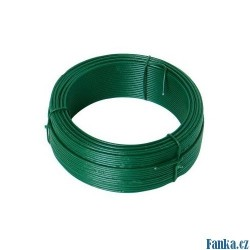 Vázací drát 1,4mmx50M zelený PVC