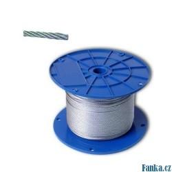 Ocelové lanko galvanizované 4mm/100M
