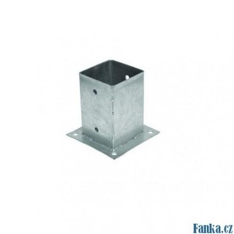 Patka sloupku 151x151x150mm,tl,2mm pozink
