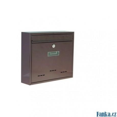 Poštovní schránka velká hnědá 31x36x9cm 237
