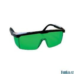 Laserové zjasňující brýle zelené !OBJ!