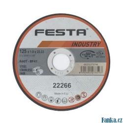 Kotouč řezný kov 125x1.6x22.2 FESTA INDUSTR